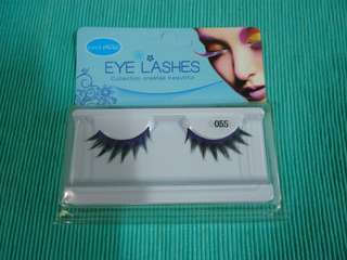 Violet false eyelashes