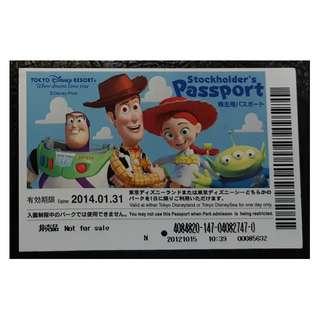 TOKYO DISNEY STOCKHOLDER'S  PASSPORT ,  $80 包郵