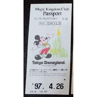 TOKYO DISNEYLAND  PASSPORT ,  $150 包郵