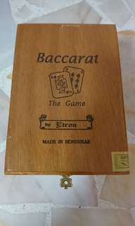 Wooden baccarat game box