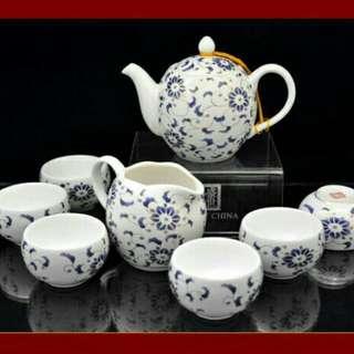 盛世昌南景德鎮陶瓷茶具套裝 (六合同春)