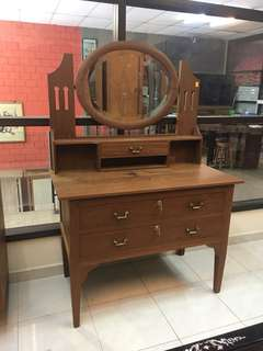 Antique teakwood dressing table