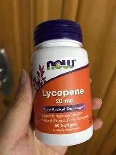 Now Lycopene 20mg 茄紅素