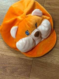 Orange Bear Cap