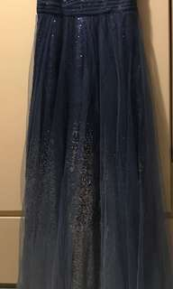 藍色晚裝 星空裙 秀智同款 AnnualDinner必備 高貴