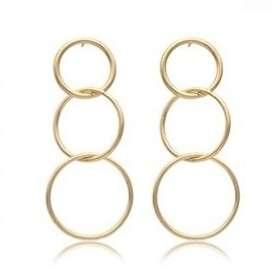 Retro Style Layered Hoop Earrings