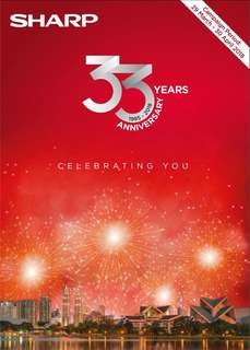 33 SHARP Anniversary Celebrating You, Great Deals!