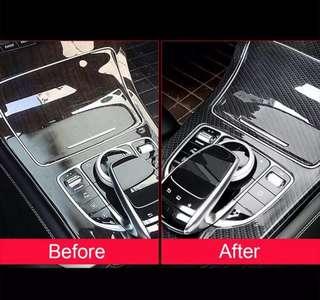Carbon Fiber Center Cover For Mercedes Benz C Class No Clock W205 C180L 2015-17