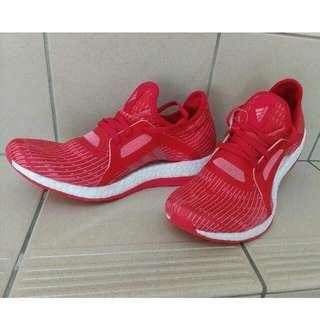 🚚 adidas PURE BOOST X  桃紅,橘紅色 避震跑鞋