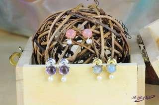 天然晶石耳環