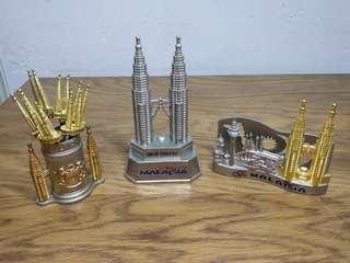 馬來西亞 金銀雙色 金屬 旅遊 紀念品 套裝 (不散賣)