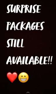 SURPRISE PACKAGES STILL AVAILABLE!!❤️