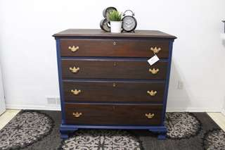 MAHAGONY TALL BOY DRESSER (NEWLY REFINISHED)