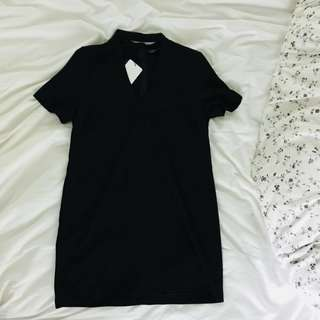 Brand New Zara Black Choker Dress