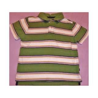 GAP ~ Green Striped T-shirt