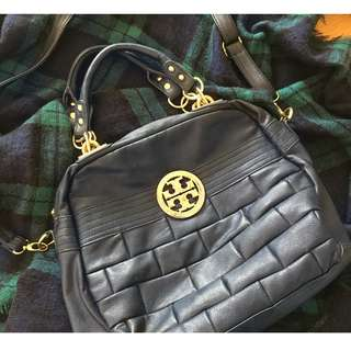 Replica Tory Burch Dark Navy Rectangular Handbag