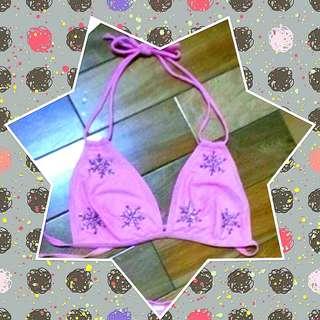👙全新 粉色釘珠 比基尼上衣 size:M #女裝半價