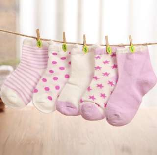 5 Pairs Set Cotton Socks