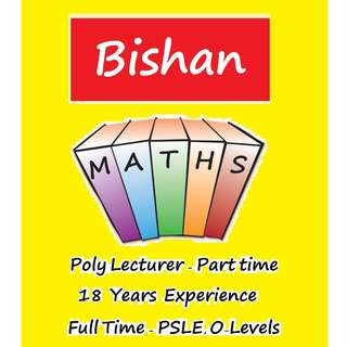 Maths Tuition (Tutor's home in Bishan only) for Primary and Secondary School Students