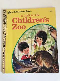 A Visit To The Childrens Zoo - Little Golden Book