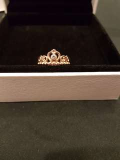 Pandora Princess Ring Rose Gold size 50