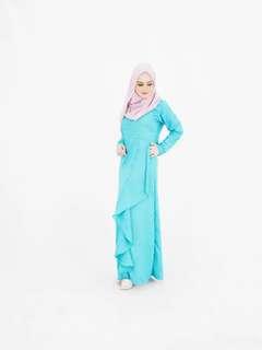 Jubah Dress Blue 4019 WZ*ready stock*
