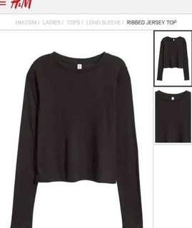 H&M Jersey Top Long Sleeve