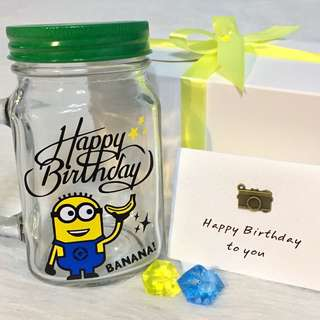 🔹Customised Birthday Mason Jar Gift 🎁