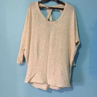 Sexy back blouse plus size
