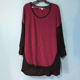Plus size cotton on blouse
