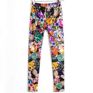Gem stones leggings by Milkyway USA size S