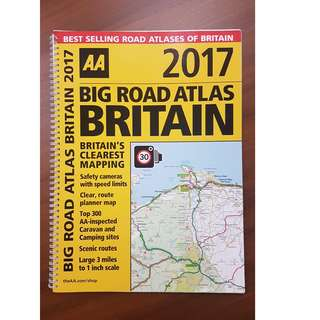 AA Big Road Atlas Britain 2017