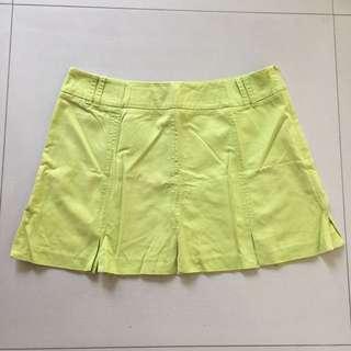 Mango Lime Green Skirt