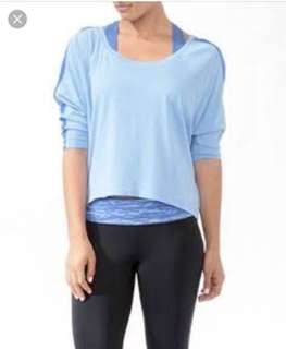 (SET OF 2!) FOREVER 21 Activewear dolman long sleeve perforated tops
