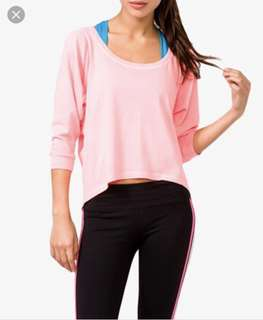 (SET OF 2!) FOREVER 21 Activewear yoga sports dolman sleeve tops