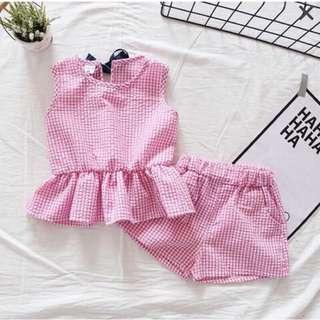 Baby girl背心短褲二件式套裝(90公分)