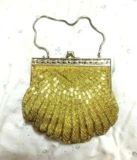 🚚 ✨古董手工縫珠手提包✨特價出清