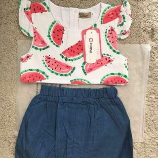 Baby girls背心短褲二件式套裝(100公分)
