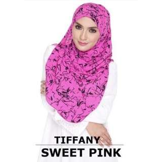 Wide Shawl KARIDA Crepe Abstrak Sweet Pink
