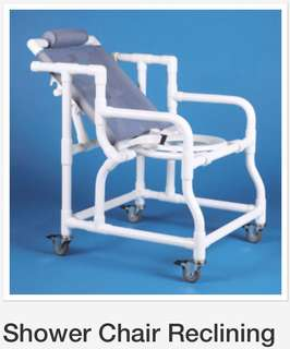 Shower chair reclining