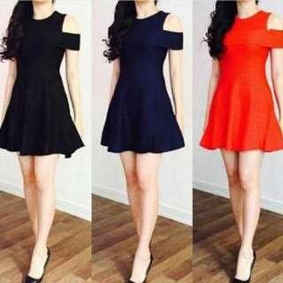 YR @MI001 SABRINA DRESS  BAHAN SPANDEX SOFT FIT l pj80