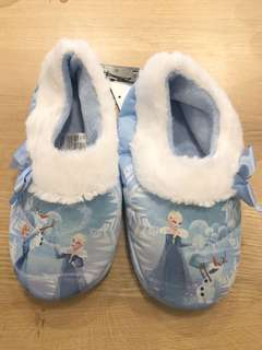 Brand New Auth H&M Girl's Frozen Soft Slippers