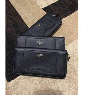 Coach Zip Wallet in Midnight