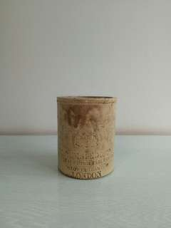 Republic Period Ceramic Brush Holder Height 13cm Diameter 10.5cm Condition 9/10