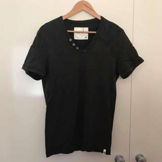 Euc Men's Size M Genuine GStar Black Fitted TShirt Tee