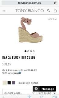 Tony Bianca Barca Suede Wedges