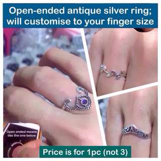 Open-ended ring of antique silver; size be customized for you) [ gifts presents uncle.anthony uncle anthony uac ] FOR MORE PICTURES & DETAILS, 👉  http://carousell.com/p/156689162
