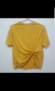 SALE! Mustard Yellow Knotted Top