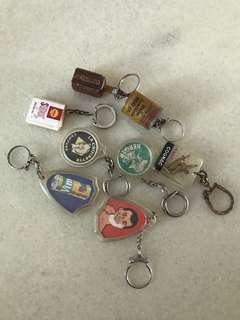 旧锁匙扣(8个)