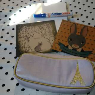 Take All - 150! Paris Pencil Case, Notebook, and Etc